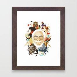 Miyazaki-San Framed Art Print