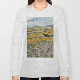 "Vincent van Gogh ""Enclosed field with ploughman"" Long Sleeve T-shirt"
