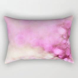 Pink and white shiny glitter effect print - Sparkle Valentine Backdrop Rectangular Pillow