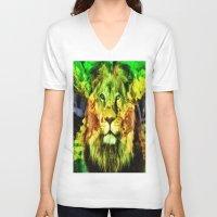 rasta V-neck T-shirts featuring Rasta  by gypsykissphotography