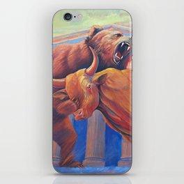 Bear vs Bull iPhone Skin