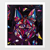 coyote Art Prints featuring COYOTE by drasik