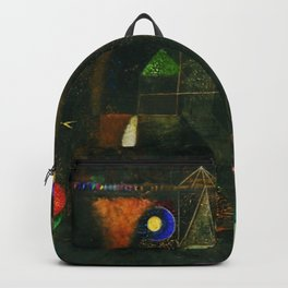 'Fish Magic No. 2' Aquatic, Celestial, Floral, Earthly Entities Portrait by Paul Klee Backpack