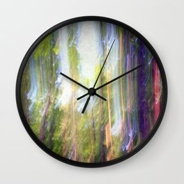 Sun shower in the Fairy Forest Wall Clock