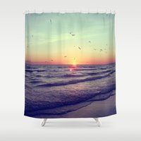 key Shower Curtains featuring Siesta Key Sunset by CAPow!