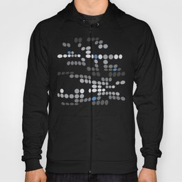 Dottywave - Grey and blue wave dots pattern Hoody