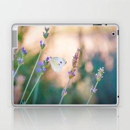 Butterfly in lavender field Laptop & iPad Skin