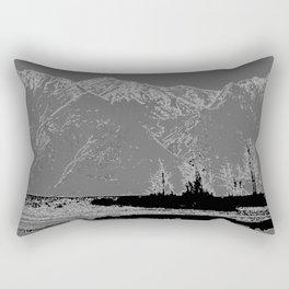 Knik River Mts. Pop Art - 3 Rectangular Pillow