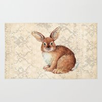 rabbit Area & Throw Rugs featuring Rabbit by Patrizia Ambrosini