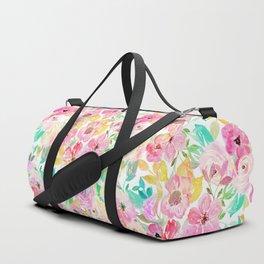 Classy watercolor hand paint floral design Duffle Bag