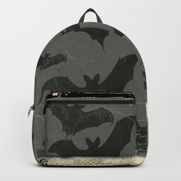 ANTIQUE  SHABBY CHIC  BATS ART DESIGN Backpack