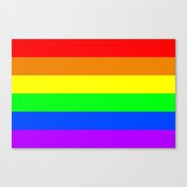 Rainbow flag, Horizontal Stripes version Canvas Print
