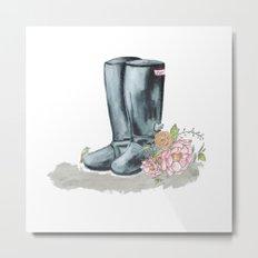 Spring rain boots Metal Print