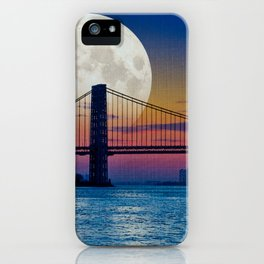 Moon over Harlem iPhone Case