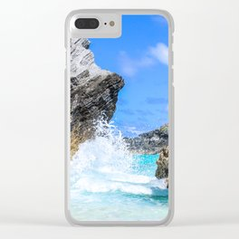 Waves Crashing, Bermuda Clear iPhone Case