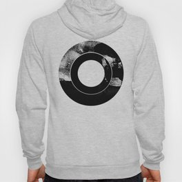 Zen Black and White Abstract Record Hoody