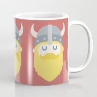 viking Mugs featuring Viking by Beardy Graphics