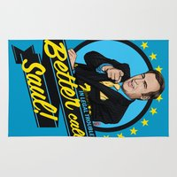 lawyer Area & Throw Rugs featuring Better Call Saul by Akyanyme