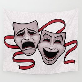 Comedy And Tragedy Theater Masks Wall Tapestry