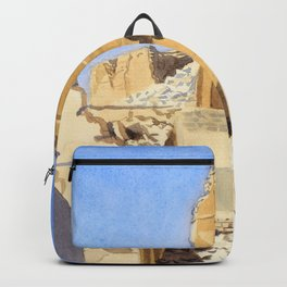 The Ruins of the Great Mosque, Gaza, Palestine - Sydney William Carline Backpack
