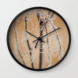 Frozen Plant Wall Clock