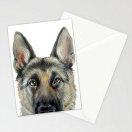 Shepard Dog illustration original painting print Stationery Cards