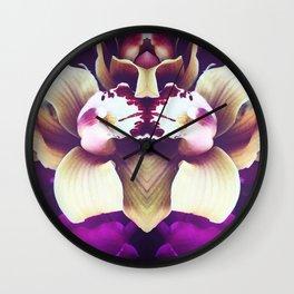 Velvet Purple Orchid Wall Clock