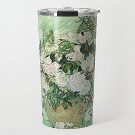 Vase with Pink Roses - Vincent Van Gogh Travel Mug