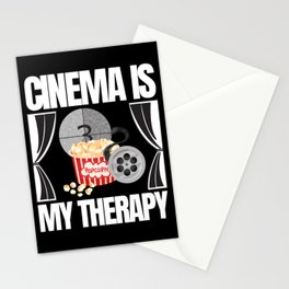 Cinema Is My Therapy Popcorn Stationery Cards