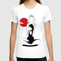 yoga T-shirts featuring Yoga by rbengtsson