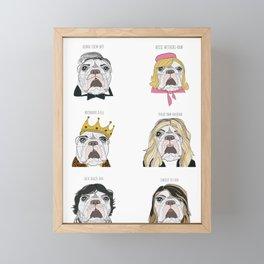 Celebrity Dogs Framed Mini Art Print