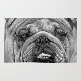 Bulldog Black and White Rug