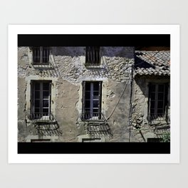 In France, by the window. Art Print