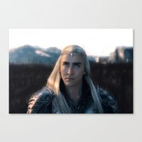 battlefield Canvas Prints featuring Thranduil - Battlefield by LindaMarieAnson