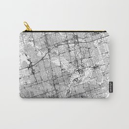 Toronto White Map Carry-All Pouch