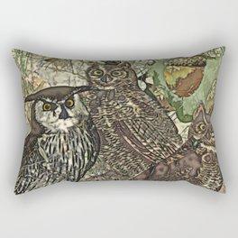 My owls in batik style Rectangular Pillow