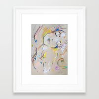 klimt Framed Art Prints featuring Klimt inspiration by Oriane Jouët