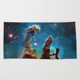 Eagle Nebula's Pillars Beach Towel