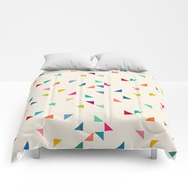 Seamless geometric pattern with triangles Comforters