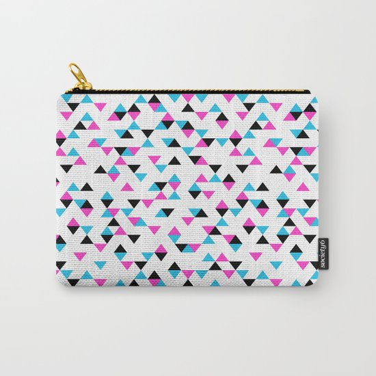 Electric Triangles Carry-All Pouch