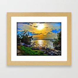 Painterly Setting Sun Framed Art Print