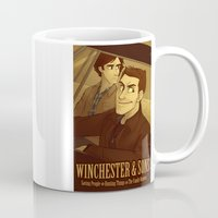 winchester Mugs featuring Winchester & Sons by The Art of Nicole