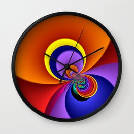 time for fractals -5- curtain Wall Clock