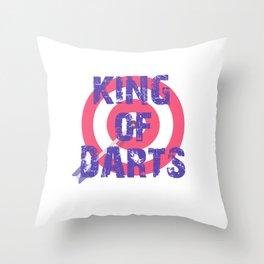King of Darts Game Play society Sport arrow Throw Pillow