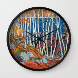 In The Northland (Group Of Seven) by Tom Thomson Canadian Landscape Art Wall Clock