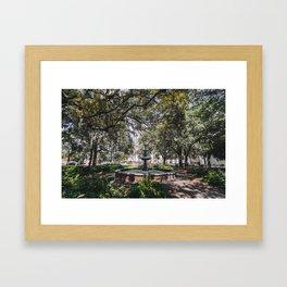 Lafayette Square - Savannah, Georgia Framed Art Print