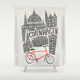 Copenhagen Cityscape Shower Curtain