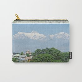 ANNAPURNA II AND LAMJUNG KAILAS FROM POKHARA NEPAL HIMALAYA Carry-All Pouch