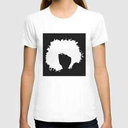 lime green b&w T-shirt