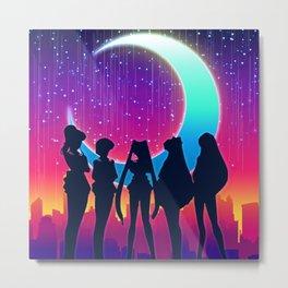Sailor Moon & Her Guardians Metal Print